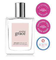 philosophy, amazing grace spray fragrance, with award stickers