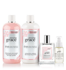 amazing grace 20th birthday amazing grace eau de toilette, multi-use oil, shampoo and conditioner.