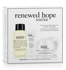 renewed hope trial kit renewed hope in a jar refreshing & refining moisturizer, refreshing & refining eye cream and purity made simple one-step facial cleanser