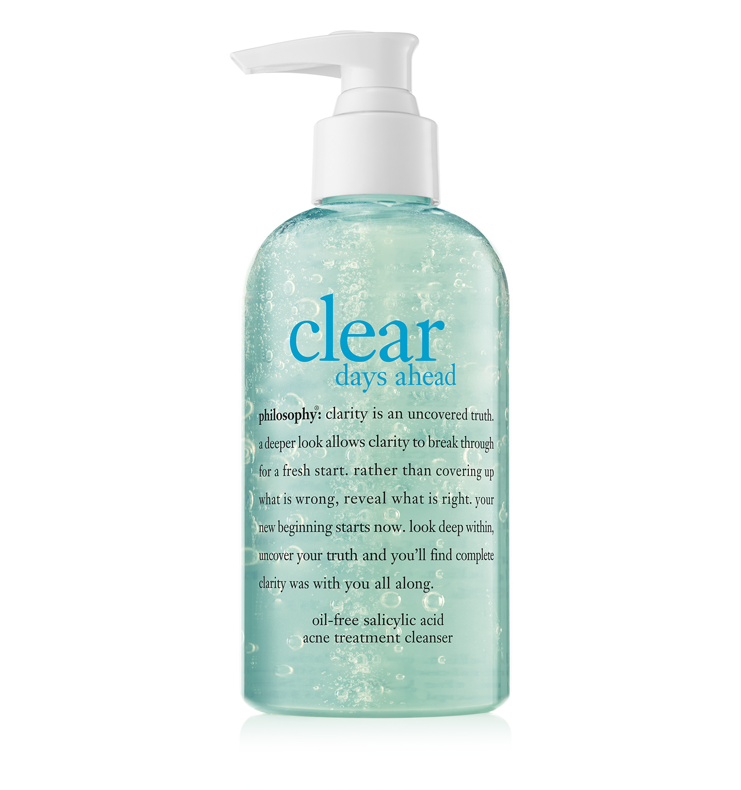philosophy, clear days ahead oil free acne cleanser