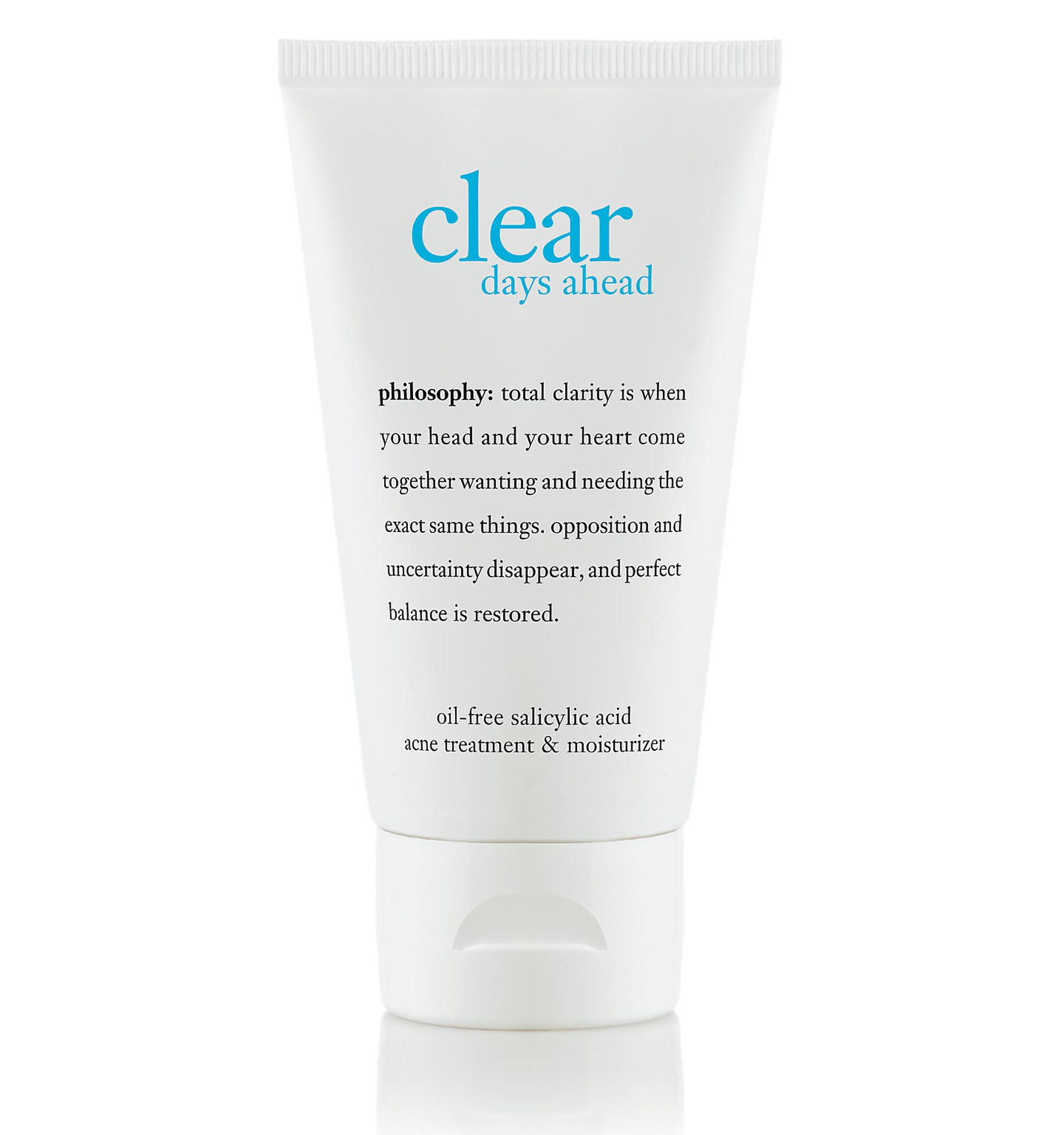 philosophy, clear days ahead acne treatment and moisturizer