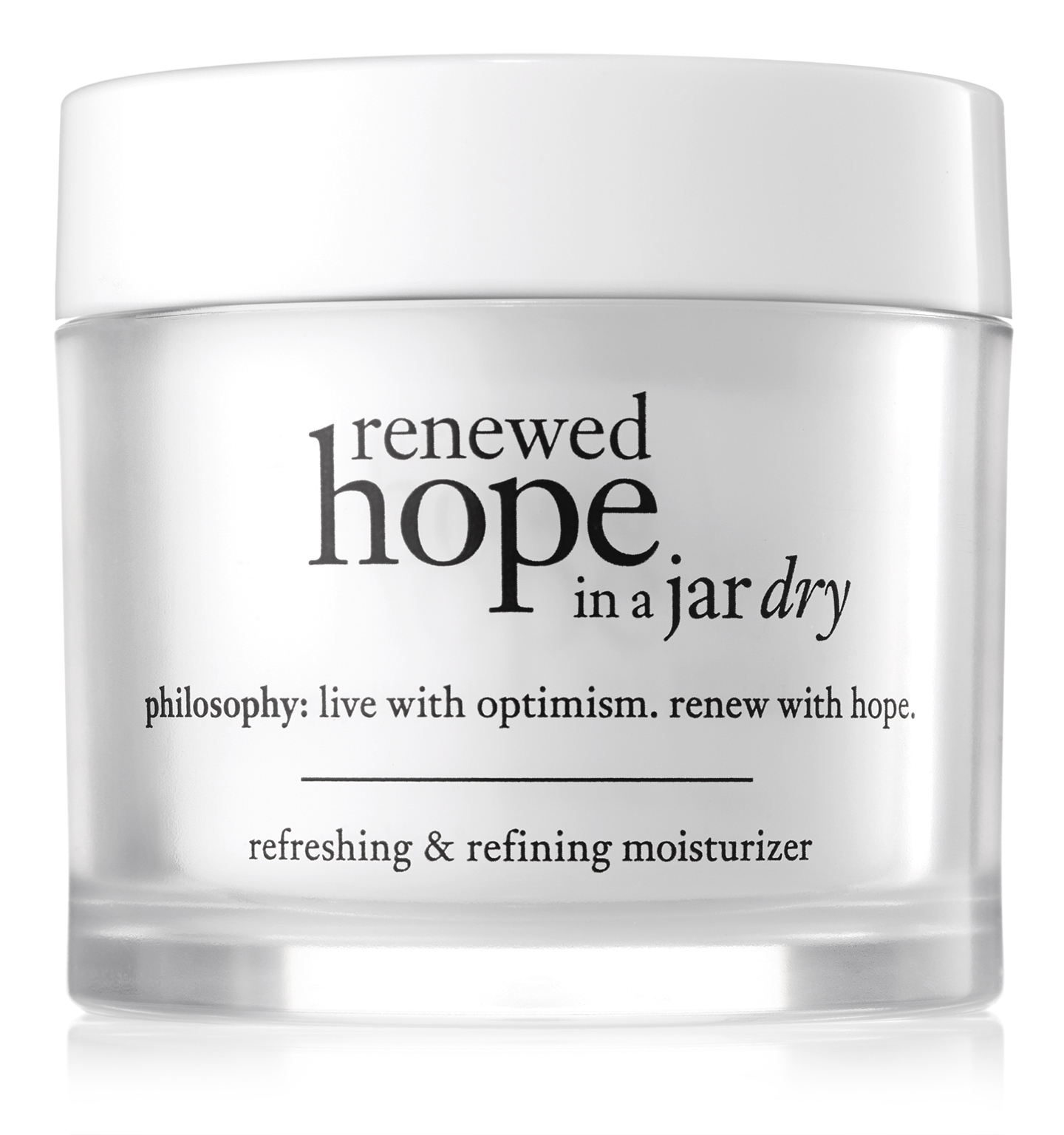 philosophy, renewed hope in a jar refreshing and refining moisturizer for dry skin