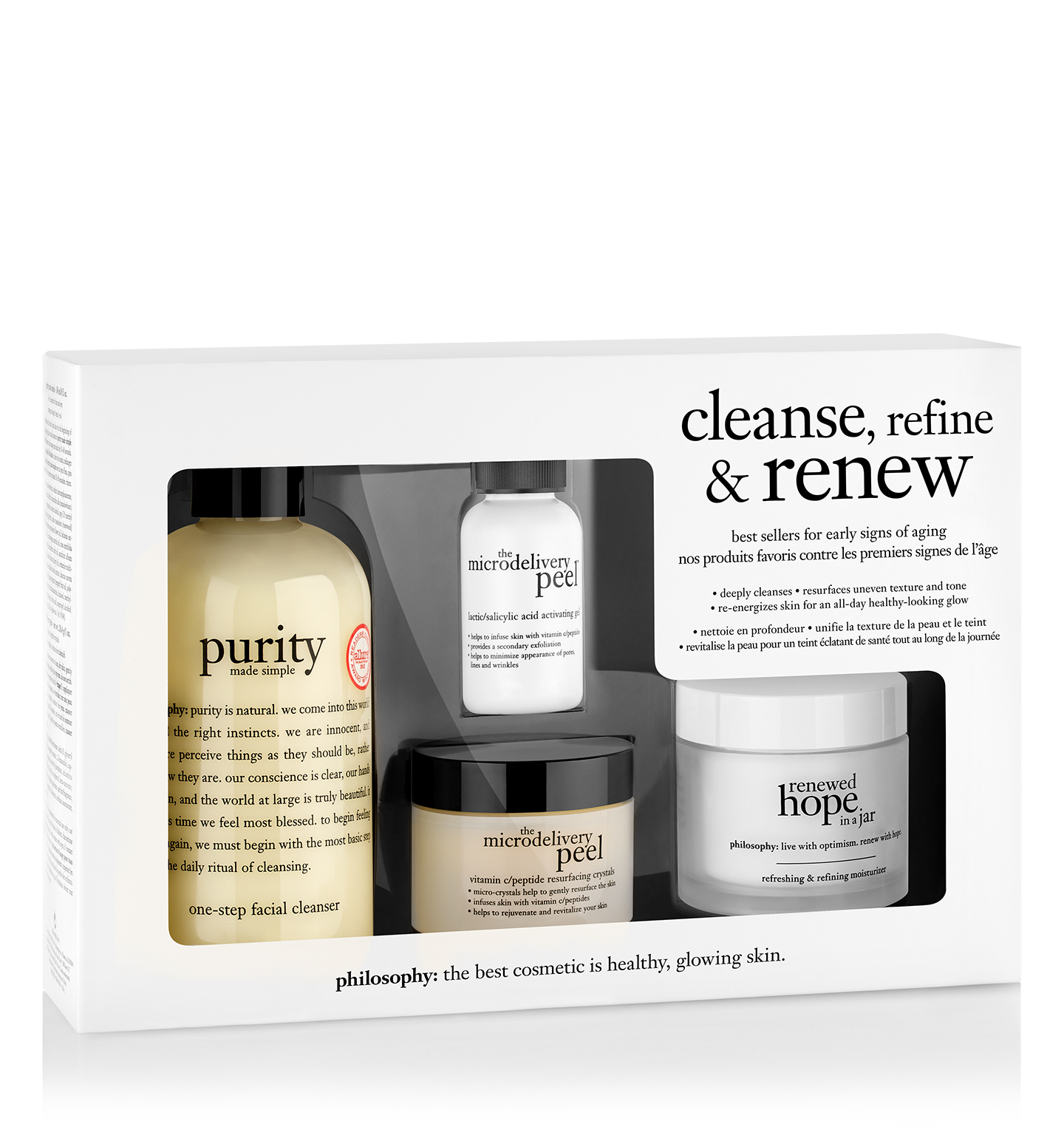 philosophy, cleanse, refine & renew kit